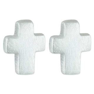 Silver Cross Mini Earrings
