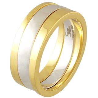 Praise Gold Titanium Ring